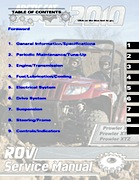 2010 Arctic Cat Prowler XT/XTX/XTZ ATV Service Manual