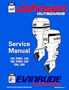 120HP 1994 J120TXAR Johnson outboard motor Service Manual