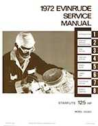 125HP 1972 125283 Evinrude outboard motor Service Manual