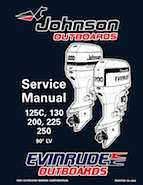 125HP 1996 125WTPLU Johnson/Evinrude outboard motor Service Manual