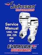 125HP 1998 125WTPXN Johnson/Evinrude outboard motor Service Manual