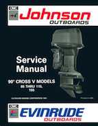 115HP 1992 J115TLAN Johnson outboard motor Service Manual