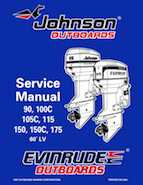 105HP 1998 J105RWLH Johnson outboard motor Service Manual