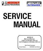 1998 mercury 9 9/15hp 4-stroke outboards factory service manual