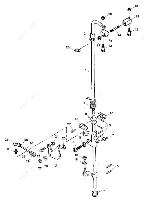 mercury force 120 h p 1998 towershaft and throttle. Black Bedroom Furniture Sets. Home Design Ideas