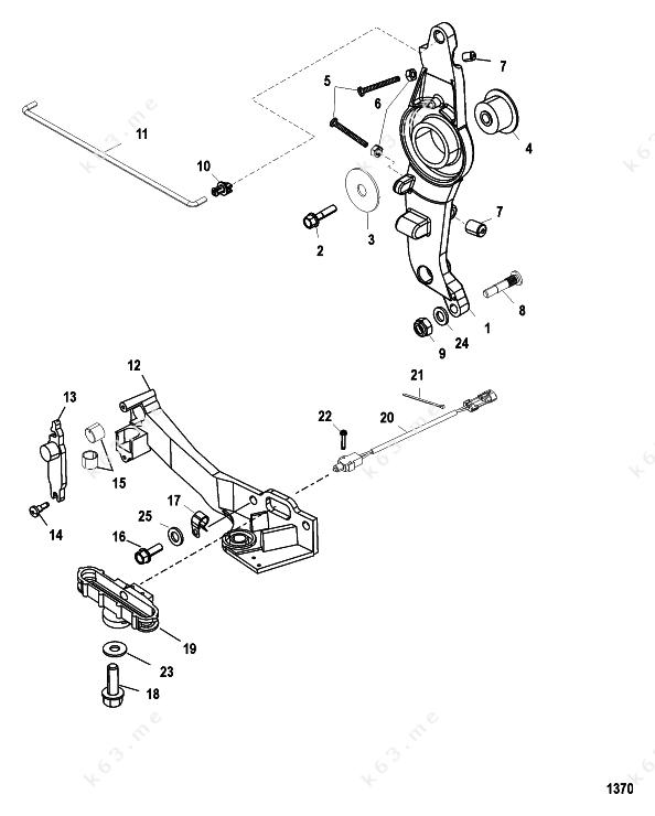 Mercury  Mariner 250 Long 3 0l Efi  Throttle Linkage