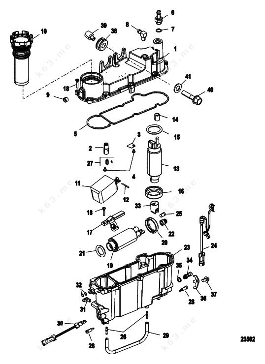 mercury  mariner 225 dfi 3 0l  vapor separator components