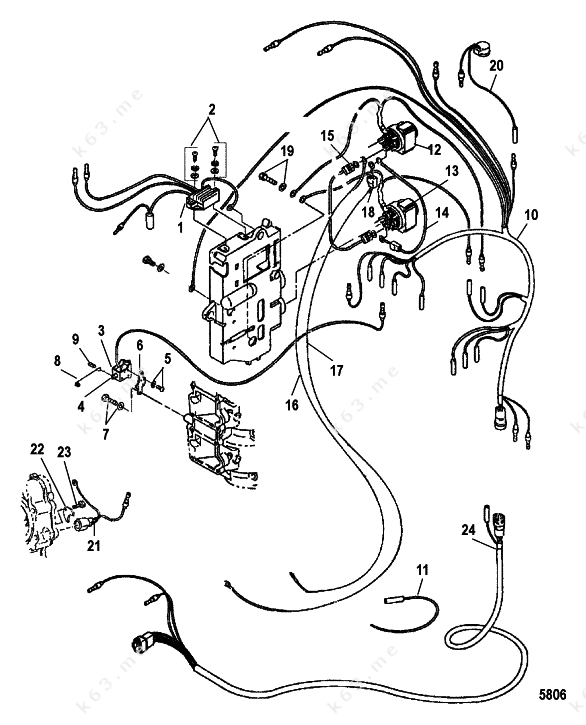 mercury  mariner 40 mxl seapro  electrical components