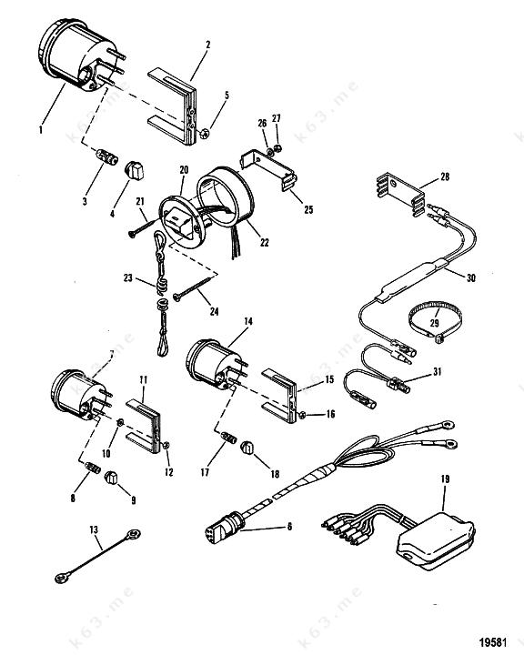 mercury  mariner v-150  instrumentation