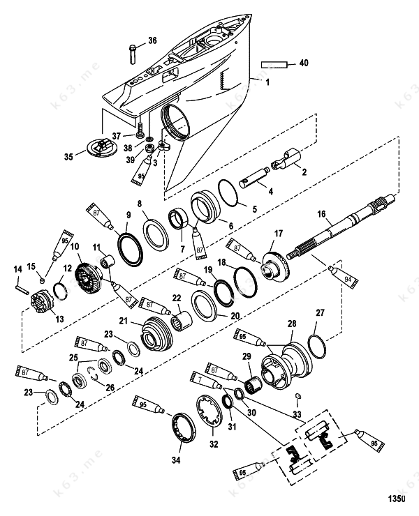 harley bearing diagram