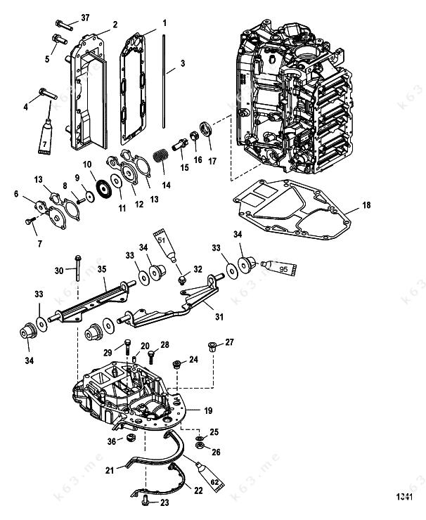mercury mariner v 200 efi exhaust manifold and. Black Bedroom Furniture Sets. Home Design Ideas