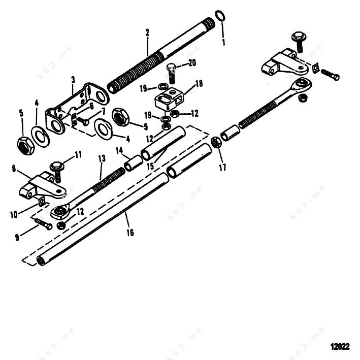 mercury  mariner v efi  dual engine extension kit